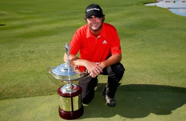 IRVING, TX - MAY 31: Steven Bowditch of Australia poses with the trophy after his four-stroke victory at the AT&T Byron Nelson at the TPC Four Seasons Resort Las Colinas on May 31, 2015 in Irving, Texas.   Tom Pennington, Image: 246936101, License: Rights-managed, Restrictions: , Model Release: no, Credit line: Profimedia, AFP