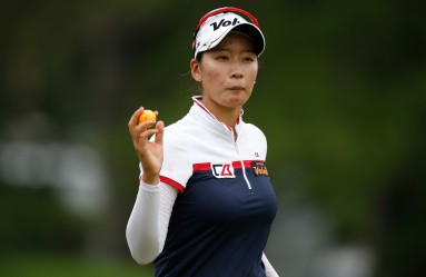 SYLVANIA, OH - JULY 17: Chella Choi of South Korea reacts after a birdie on the 18th green during the second round of the Marathon Classic presented by Owens Corning and O-I at Highland Meadows Golf Club on July 17, 2015 in Sylvania, Ohio.   Gregory Shamus, Image: 253195616, License: Rights-managed, Restrictions: , Model Release: no, Credit line: Profimedia, AFP
