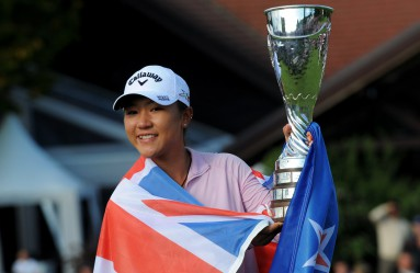 New Zealand's Lydia Ko poses with her trophy after winning the Evian Championship on September 13, 2015 in the French Alps town of Evian-les-Bains., Image: 258462973, License: Rights-managed, Restrictions: , Model Release: no, Credit line: Profimedia, AFP