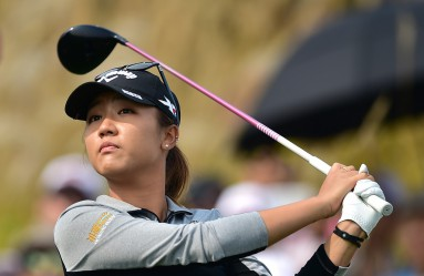 Lydia Ko of New Zealand tees off on the ninth hole during the final round of the LPGA KEB Hana Bank Championship golf event at the Sky72 Golf Club in Incheon, west of Seoul, on October 18, 2015., Image: 262960418, License: Rights-managed, Restrictions: , Model Release: no, Credit line: Profimedia, AFP