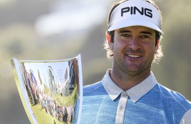 LOS ANGELES, Feb. 22, 2016  Bubba Watson of the United States celebrates with his trophy after the final round of the PGA Tour Northern Trust Open golf tournament at the Riviera Country Club in Pacific Palisades, California, United States on Feb. 21, 2016. Bubba Watson calimed the title for the second time in three years on Sunday. wll), Image: 275030554, License: Rights-managed, Restrictions: , Model Release: no, Credit line: Profimedia, Zuma Press - News