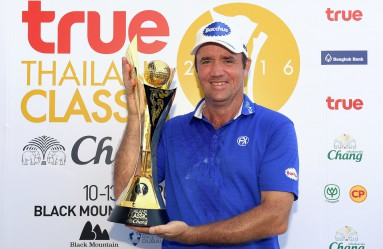 "In this Asian Tour handout photo taken on March 13, 2016, Scott Hend of Australia holds the winner's trophy after the final round of the True Thailand Classic golf tournament at the Black Mountain Golf Club in Hua Hin, Thailand.    / AFP / ASIAN TOUR / Paul Lakatos / -----EDITORS NOTE --- RESTRICTED TO EDITORIAL USE - MANDATORY CREDIT "", Image: 277126936, License: Rights-managed, Restrictions: -----EDITORS NOTE --- RESTRICTED TO EDITORIAL USE - MANDATORY CREDIT ""AFP PHOTO / ASIAN TOUR / Paul Lakatos"" - NO MARKETING - NO ADVERTISING CAMPAIGNS - DISTRIBUTED AS A SERVICE TO CLIENTS - NO ARCHIVES, Model Release: no, Credit line: Profimedia, AFP"