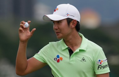 Soomin Lee of Korea acknowledges the crowd during day three of the Maybank Championship Golf Tournament in Kuala Lumpur, Malaysia, 20 February 2016., Image: 274823485, License: Rights-managed, Restrictions: , Model Release: no, Credit line: Profimedia, TEMP EPA