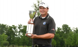 AVONDALE, LA - MAY 02: Brian Stuard celebrates with the trophy following a two hole playoff to win the Zurich Classic at TPC Louisiana on May 2, 2016 in Avondale, Louisiana.   Stacy Revere, Image: 283210059, License: Rights-managed, Restrictions: , Model Release: no, Credit line: Profimedia, Getty images