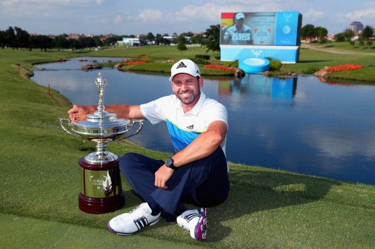 IRVING, TX - MAY 22: Sergio Garcia of Spain poses with the trophy after winning the AT&T Byron Nelson at the TPC Four Seasons Resort on May 22, 2016 in Irving, Texas.   Tom Pennington, Image: 286420696, License: Rights-managed, Restrictions: , Model Release: no, Credit line: Profimedia, Getty images