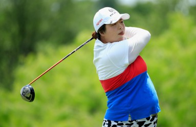IRVING, TX - APRIL 30: Shanshan Feng of China hits her tee shot on the eighth hole during the third round of the Volunteers of America Texas Shootout at Las Colinas Country Club on April 30, 2016 in Irving, Texas.   Scott Halleran, Image: 283040366, License: Rights-managed, Restrictions: , Model Release: no, Credit line: Profimedia, Getty images