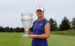 GALLOWAY, NJ - JUNE 5: Anna Nordqvist of Sweden holds the championship trophy after winning the ShopRite LPGA Classic presented by Acer on the Bay Course at the Stockton Seaview Hotel & Golf Club on June 5, 2016 in Galloway, New Jersey.   Hunter Martin, Image: 289030226, License: Rights-managed, Restrictions: , Model Release: no, Credit line: Profimedia, Getty images