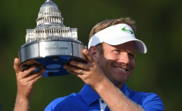 /Billy Hurley III holds up the winning trophy after winning the Quicken Loans National at Congressional Country Club in Bethesda MD PGA Quicken Loans National, Bethesda, USA - 26 Jun 2016, Image: 292450819, License: Rights-managed, Restrictions: , Model Release: no, Credit line: Profimedia, TEMP Rex Features