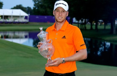 MEMPHIS, TN - JUNE 12: Daniel Berger celebrates with the trophy after winning the FedEx St. Jude Classic during the final round at TPC Southwind on June 12, 2016 in Memphis, Tennessee.   Andy Lyons, Image: 290222645, License: Rights-managed, Restrictions: , Model Release: no, Credit line: Profimedia, Getty images