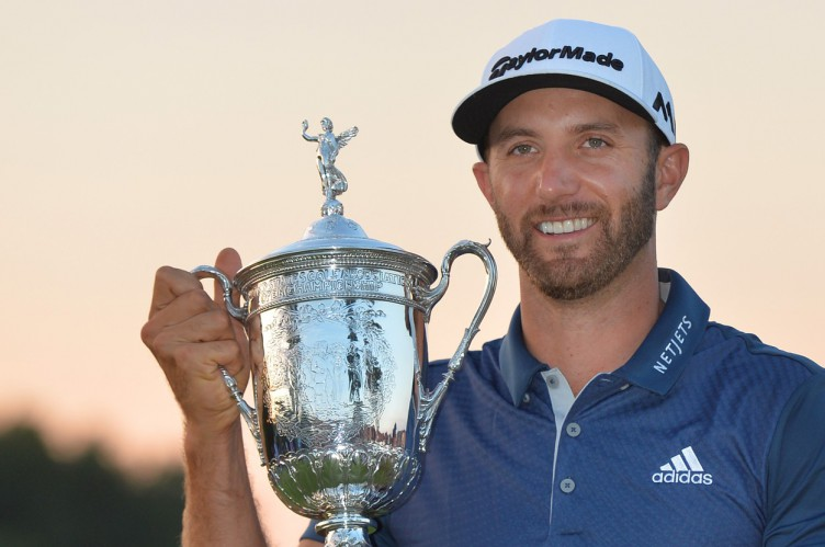 Dustin Johnson holds the Championship Trophy on the 18th green after winning his first major championship in the final round at the U.S. Open at Oakmont Country Club near Pittsburgh, Pennsylvania on June 19, 2016. Johnson won with a score of 5 under par.     Photo by /UPI, Image: 291770385, License: Rights-managed, Restrictions: , Model Release: no, Credit line: Profimedia, UPI