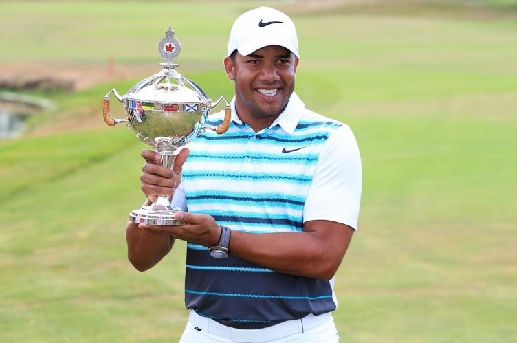 OAKVILLE, ON - JULY 24: Jhonattan Vegas of Venezuela poses with the trophy after winning during the final round of the RBC Canadian Open at Glen Abbey Golf Club on July 24, 2016 in Oakville, Canada.   Vaughn Ridley, Image: 294903152, License: Rights-managed, Restrictions: , Model Release: no, Credit line: Profimedia, Getty images