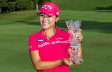 July 17, 2016:  Lydia Ko, of New Zealand, poses with the winner's trophy at the conclusion of the LPGA Marathon Classic presented by Owens Corning and O-I at Highland Meadows Golf Club in Sylvania, Ohio., Image: 294420314, License: Rights-managed, Restrictions: FOR EDITORIAL USE ONLY. Icon Sportswire (A Division of XML Team Solutions) reserves the right to pursue unauthorized users of this image. If you violate our intellectual property you may be liable for: actual damages, loss of income, and profits you derive from the use of this image, and, where appropriate, the costs of collection and/or statutory damages up to $150,000 (USD)., Model Release: no, Credit line: Profimedia, Newscom