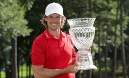 AUBURN, AL - JULY 17: Aaron Baddeley of Australia poses with the trophy after winning during the final round of the Barbasol Championship at the Robert Trent Jones Golf Trail at Grand National on July 17, 2016 in Auburn, Alabama.   Sam Greenwood, Image: 294403468, License: Rights-managed, Restrictions: , Model Release: no, Credit line: Profimedia, Getty images