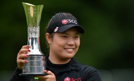 Thailand's Ariya Jutanugarn poses with the trophy after winning the 2016 Women's British Open Golf Championships at Woburn Golf Club in central England, on July 31, 2016., Image: 295708127, License: Rights-managed, Restrictions: , Model Release: no, Credit line: Profimedia, AFP