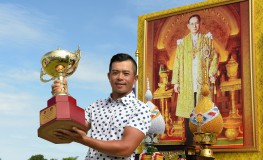 "In this handout picture taken and released by the Asian Tour on July 31, 2016, Chan Shih Chang of Taiwan holds up the winner's trophy after his victory in the King's Cup at the Phoenix Gold Golf and Country Club in Pattaya., Image: 295668085, License: Rights-managed, Restrictions: -----EDITORS NOTE --- RESTRICTED TO EDITORIAL USE - MANDATORY CREDIT ""AFP PHOTO / ASIAN TOUR / Paul Lakatos"" - NO MARKETING - NO ADVERTISING CAMPAIGNS - DISTRIBUTED AS A SERVICE TO CLIENTS - NO ARCHIVES, Model Release: no, Credit line: Profimedia, AFP"