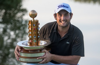 Golf player Alexander Levy from France poses with the trophy after winning the European Open goal tournament in Bad Griesbach, Germany, 25 September 2016., Image: 300997057, License: Rights-managed, Restrictions: , Model Release: no, Credit line: Profimedia, TEMP EPA