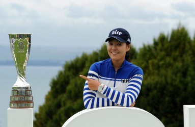 South Korea's In Gee Chun poses with her trophy after winning the Evian Championship golf tournament in the French Alps town of Evian-les-Bains on September 18, 2016., Image: 300237164, License: Rights-managed, Restrictions: , Model Release: no, Credit line: Profimedia, AFP