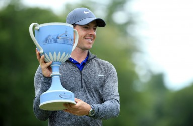 NORTON, MA - SEPTEMBER 05: Rory McIlroy of Northern Ireland poses with the trophy during the final round of the Deutsche Bank Championship at TPC Boston on September 5, 2016 in Norton, Massachusetts.   Maddie Meyer, Image: 298937389, License: Rights-managed, Restrictions: , Model Release: no, Credit line: Profimedia, Getty images