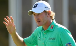 PEBBLE BEACH, CA - FEBRUARY 15: Brandt Snedeker celebrates his birdie putt on the 15th green on his way to winning the AT T Pebble Beach National Pro-Am at the Pebble Beach Golf Links on February 15, 2015 in Pebble Beach, California.   Harry How/Getty Images/AFP == FOR NEWSPAPERS, INTERNET, TELCOS   TELEVISION USE ONLY ==