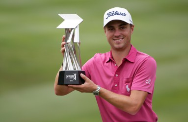 Justin Thomas of USA poses with the trophy after winning the 2016 CIMB Classic Golf PGA Tour tournament in Kuala Lumpur, Malaysia, 23 October 2016., Image: 303690899, License: Rights-managed, Restrictions: , Model Release: no, Credit line: Profimedia, TEMP EPA