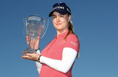 NAPLES, FL - NOVEMBER 20: Charley Hull of England poses with the CME Tour Championship trophy during the final round of the CME Group Tour Championship at Tiburon Golf Club on November 20, 2016 in Naples, Florida.   Sam Greenwood, Image: 306321450, License: Rights-managed, Restrictions: , Model Release: no, Credit line: Profimedia, Getty images