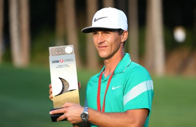 ANTALYA, TURKEY - NOVEMBER 06: Thorbjorn Olesen of Denmark poses with his trophy following his victory during day four of the Turkish Airlines Open at the Regnum Carya Golf & Spa Resort on November 6, 2016 in Antalya, Turkey. Orhan Cicek / Anadolu Agency, Image: 304900448, License: Rights-managed, Restrictions: , Model Release: no, Credit line: Profimedia, Abaca