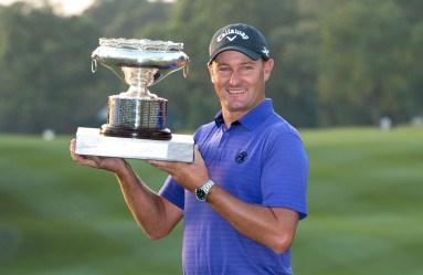 December 11, 2016 - Hong Kong, Hong Kong S.A.R, China - Final round of the 58th Hong Kong Open at The Hong Kong Golf Club Fanling, Hong Kong, Hong Kong SAR, China. Sam Brazel takes the trophy by one stroke with a birdie on the 18th., Image: 308178015, License: Rights-managed, Restrictions: , Model Release: no, Credit line: Profimedia, Zuma Press - Archives