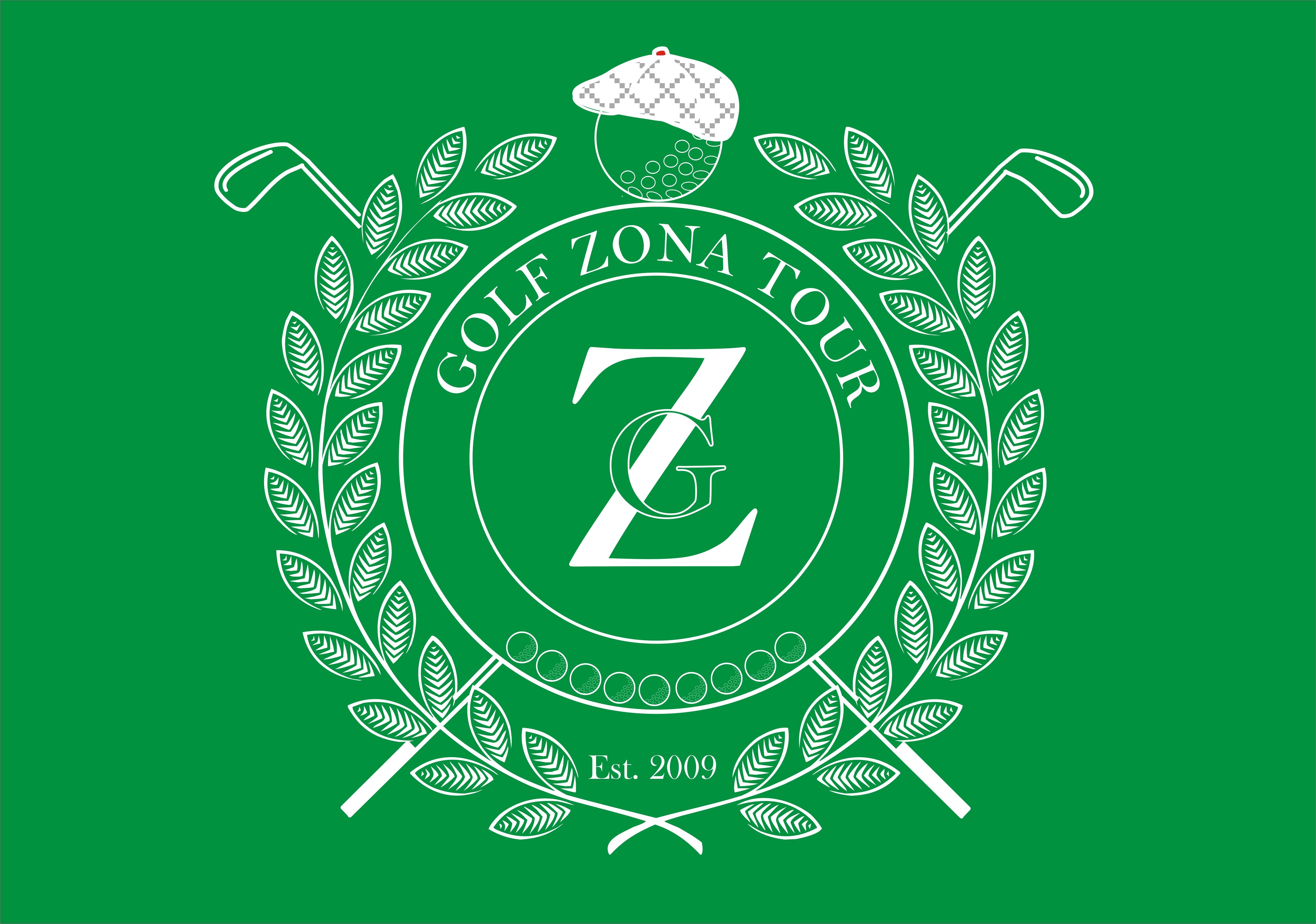 Logo GZT 2017 biele na zelenom podklade