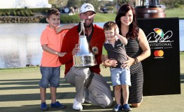 March 19, 2017 - Orlando, Florida, United States - (L-R) Harvey Leishman, Marc Leishman, Oliver Leishman and Audrey Leishman pose on the 18th green after winning the Arnold Palmer Invitational presented by MasterCard on March 19, 2017 at Bay Hill Club & Lodge., Image: 325866735, License: Rights-managed, Restrictions: , Model Release: no, Credit line: Profimedia, Zuma Press - News
