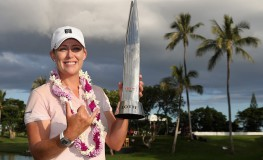 KAPOLEI, HI - APRIL 15: Cristie Kerr poses with the trophy after winning in the final round of the LPGA LOTTE Championship Presented By Hershey at Ko Olina Golf Club on April 15, 2017 in Kapolei, Hawaii.   Christian Petersen, Image: 329359841, License: Rights-managed, Restrictions: , Model Release: no, Credit line: Profimedia, Getty images