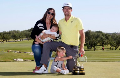 Apr 23, 2017; San Antonio, TX, USA; Kevin Chappell poses with the winners trophy after winning the Valero Texas Open golf tournament at TPC San Antonio - AT&T Oaks Course., Image: 329986541, License: Rights-managed, Restrictions: *** World Rights ***, Model Release: no, Credit line: Profimedia, SIPA USA