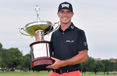 IRVING, TX - MAY 21: Billy Horschel poses with the trophy after winning the AT&T Byron Nelson at the TPC Four Seasons Resort Las Colinas on May 21, 2017 in Irving, Texas.   Drew Hallowell, Image: 333124146, License: Rights-managed, Restrictions: , Model Release: no, Credit line: Profimedia, Getty images