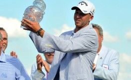 Jun 11, 2017; Memphis, TN, USA; Daniel Berger reacts after winning the FedEx St. Jude Classic golf tournament at TPC Southwind., Image: 336372702, License: Rights-managed, Restrictions: *** World Rights ***, Model Release: no, Credit line: Profimedia, SIPA USA