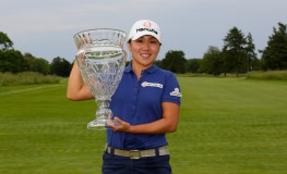 GALLOWAY, NJ - JUNE 4: In-Kyung Kim of South Korea holds the championship trophy after winning the ShopRite LPGA Classic presented by Acer on the Bay Course at Stockton Seaview Hotel & Golf Club on June 4, 2017 in Galloway, New Jersey.   Hunter Martin, Image: 335097969, License: Rights-managed, Restrictions: , Model Release: no, Credit line: Profimedia, Getty images
