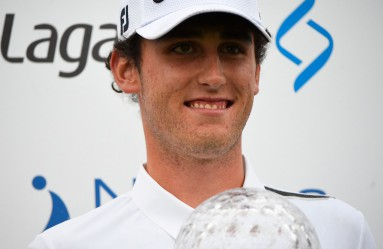 Italy's Renato Paratore celebrates with the trophy after winning the Nordea masters at Barseback Golf Club, in Barseback, Sweden, 04 June 2017., Image: 335050995, License: Rights-managed, Restrictions: SWEDEN OUT, Model Release: no, Credit line: Profimedia, TEMP EPA