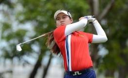 """This handout photo taken on July 8, 2017 and released by the Ladies European Tour shows 14-year old Thai golfer Atthaya Thitikul competing at the Ladies European Thailand Championship golf event in Pattaya., Image: 341316605, License: Rights-managed, Restrictions: RESTRICTED TO EDITORIAL USE - MANDATORY CREDIT """"AFP PHOTO / LADIES EUROPEAN TOUR"""" - NO MARKETING NO ADVERTISING CAMPAIGNS - DISTRIBUTED AS A SERVICE TO CLIENTS - NO ARCHIVES, Model Release: no, Credit line: Profimedia, AFP"""