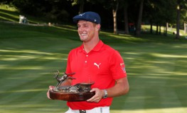 Jul 16, 2017; Silvis, IL, USA; Bryson DeChambeau poses with the trophy after winning the John Deere Classic golf tournament at TPC Deere Run., Image: 342098718, License: Rights-managed, Restrictions: *** World Rights ***, Model Release: no, Credit line: Profimedia, SIPA USA