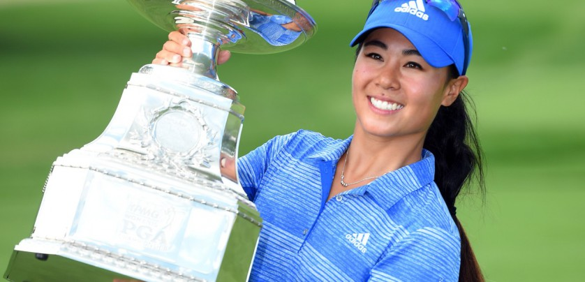 Jul 2, 2017; Olympia Fields, IL, USA; Danielle Kang poses with her trophy after winning the KPMG Women's PGA Championship golf tournament at Olympia Fields Country Club - North., Image: 340137854, License: Rights-managed, Restrictions: *** World Rights ***, Model Release: no, Credit line: Profimedia, SIPA USA