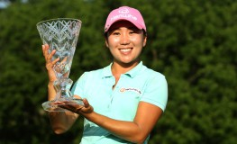 July 23, 2017 - Sylvania, Ohio, United States - I.K. Kim of Korea holds the trophy after winning the tournament during the final round of the Marathon LPGA Classic golf tournament at Highland Meadows Golf Club in Sylvania, Ohio USA, on Sunday, July 23, 2017., Image: 342814374, License: Rights-managed, Restrictions: * France Rights OUT *, Model Release: no, Credit line: Profimedia, Zuma Press - News