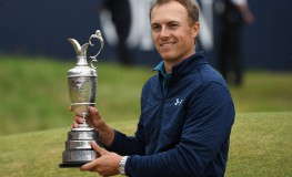 Jordan Spieth of the US holds the Claret Jug trophy after winning the British Open Golf Championships at Royal Birkdale, Britain, 23 July 2017., Image: 342799578, License: Rights-managed, Restrictions: , Model Release: no, Credit line: Profimedia, TEMP EPA