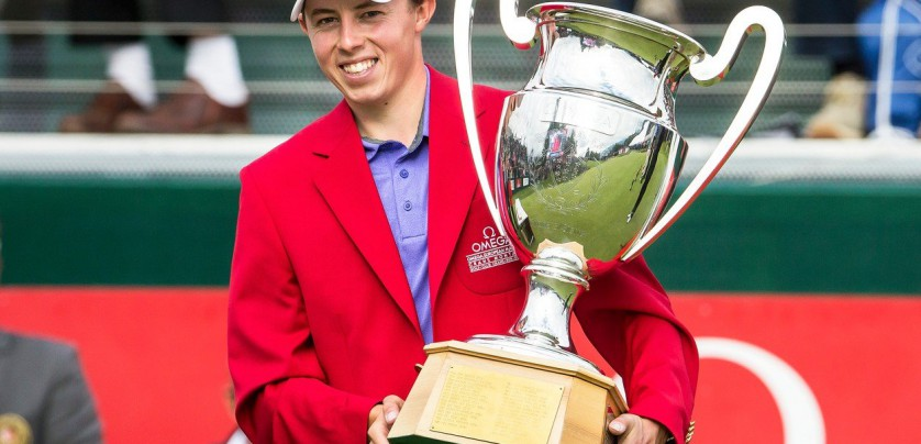 Matthew Fitzpatrick of England poses with his trophy after winning the Omega European Masters Golf Tournament in Crans-Montana, Switzerland, 10 September 2017.  EPA-EFE/, Image: 348942575, License: Rights-managed, Restrictions: , Model Release: no, Credit line: Profimedia, TEMP EPA