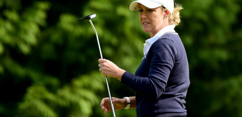 COQUITLAM, BC - AUGUST 21: Christie Kerr reacts to her putt on the 16th green during the second round of the Canadian Pacific Women's Open at the Vancouver Golf Club on August 21, 2015 in Coquitlam, Canada.   Harry How, Image: 256139347, License: Rights-managed, Restrictions: , Model Release: no, Credit line: Profimedia, Getty images