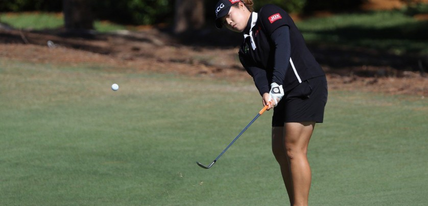 NAPLES, FL - NOVEMBER 19: Ariya Jutanugarn of Thailand plays a shot on the sixth hole during the final round of the CME Group Tour Championship at the Tiburon Golf Club on November 19, 2017 in Naples, Florida.   Sam Greenwood, Image: 355718490, License: Rights-managed, Restrictions: , Model Release: no, Credit line: Profimedia, Getty images