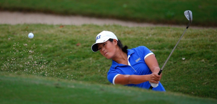 ATLANTA, GA - NOVEMBER 03: Celine Boutier of the Duke Blue Devils chips onto the third green during day 2 of the 2015 East Lake Cup at East Lake Golf Club on November 3, 2015 in Atlanta, Georgia.   Kevin C. Cox, Image: 264839843, License: Rights-managed, Restrictions: , Model Release: no, Credit line: Profimedia, Getty images