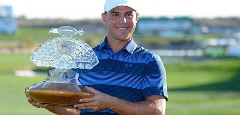 SCOTTSDALE, AZ - FEBRUARY 04: Gary Woodland poses with the trophy after winning the Waste Management Phoenix Open at TPC Scottsdale on February 4, 2018 in Scottsdale, Arizona.   Robert Laberge, Image: 362307217, License: Rights-managed, Restrictions: , Model Release: no, Credit line: Profimedia, Getty images