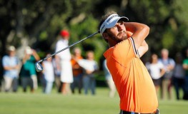 Joost Luiten of the Netherlands watches his  shot on the 15th hole during the Andalucia Valderrama Masters golf tournament at Valderrama Royal Club in Sotogrande, San Roque, southern Spain, 22 October 2017.  EPA-EFE/, Image: 353629364, License: Rights-managed, Restrictions: , Model Release: no, Credit line: Profimedia, TEMP EPA
