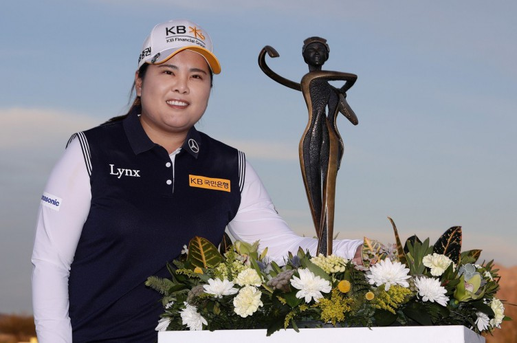 PHOENIX, AZ - MARCH 18: Inbee Park of South Korea poses with the trophy after winning the Bank Of Hope Founders Cup at Wildfire Golf Club on March 18, 2018 in Phoenix, Arizona.   Christian Petersen, Image: 366358639, License: Rights-managed, Restrictions: , Model Release: no, Credit line: Profimedia, Getty images