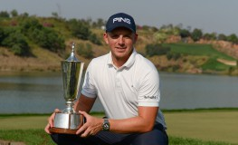 Matt Wallace of England poses with a trophy after winning the Hero Indian Open 2018 golf tournament at DLF Golf and Country Club in Gurugram on the outskirts of New Delhi on March 11, 2018., Image: 365730414, License: Rights-managed, Restrictions: , Model Release: no, Credit line: Profimedia, AFP