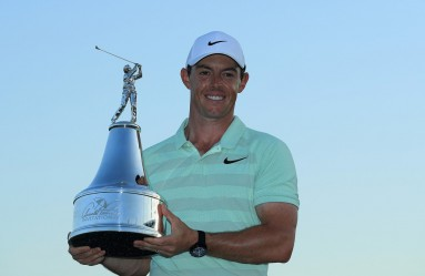 ORLANDO, FL - MARCH 18: Rory McIlroy of Northern Ireland holds the trophy after his two shot victory during the final round at the Arnold Palmer Invitational Presented By MasterCard at Bay Hill Club and Lodge on March 18, 2018 in Orlando, Florida.   Sam Greenwood, Image: 366356809, License: Rights-managed, Restrictions: , Model Release: no, Credit line: Profimedia, Getty images